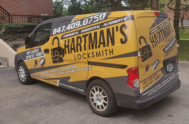 image of Hartman's locksmith van